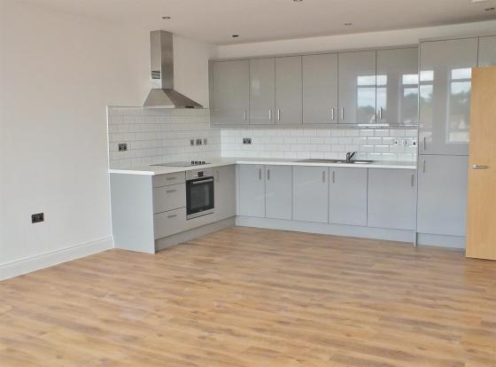 Open Plan Living Area with Fully Fitted Kitchen