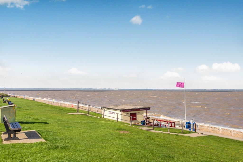 Minster on sea beach