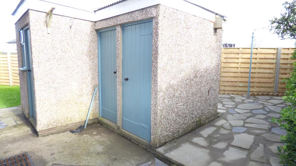 out sheds and patio