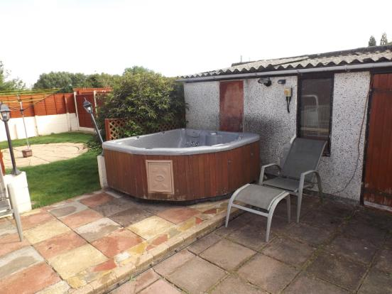 Patio and Hot Tub