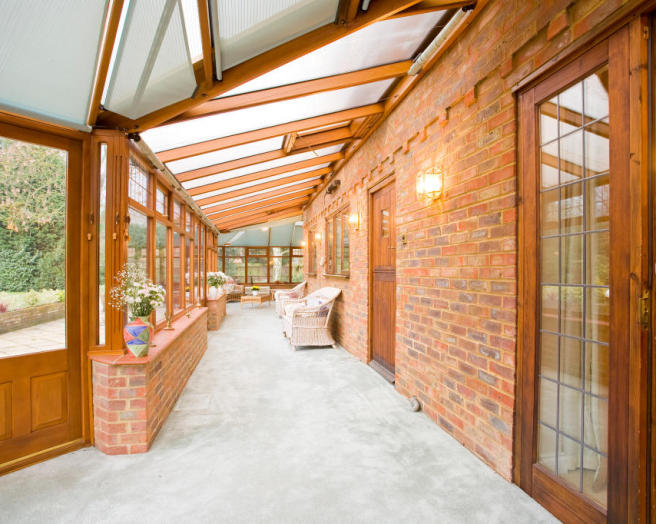 photo of beige orange white conservatory
