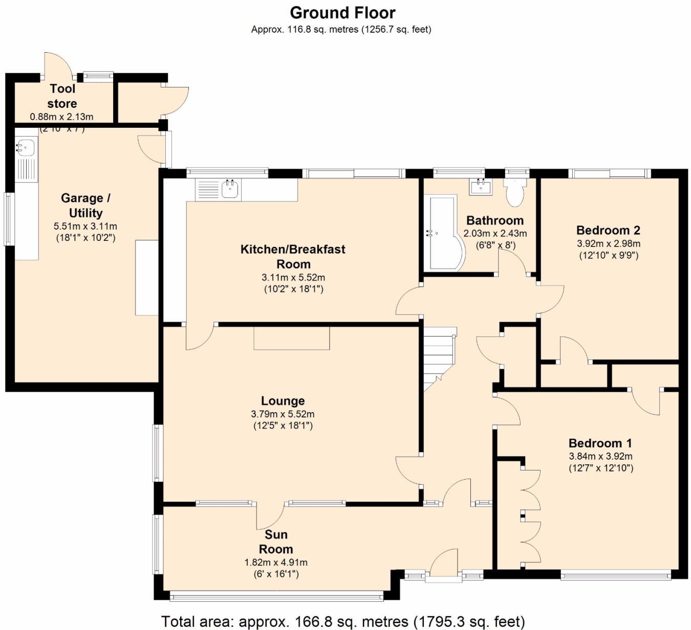Low budget modern 3 bedroom house design floor plan