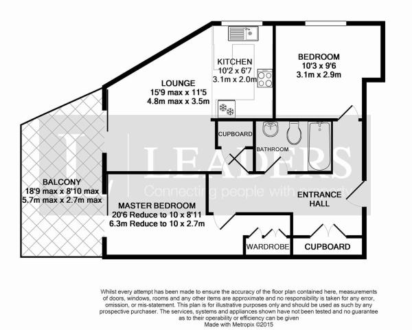 Floorplan with balco