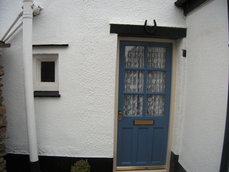 Front door at side