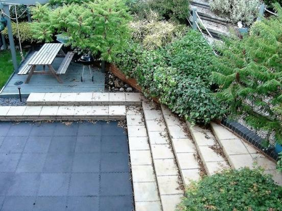 View of patio ...