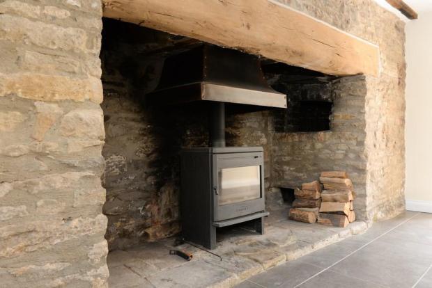 Fireplace with log burner
