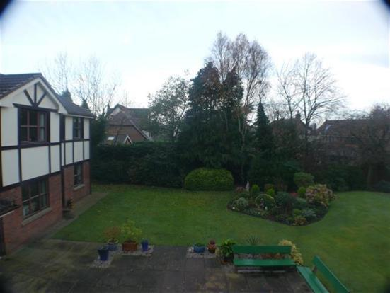View of gardens from