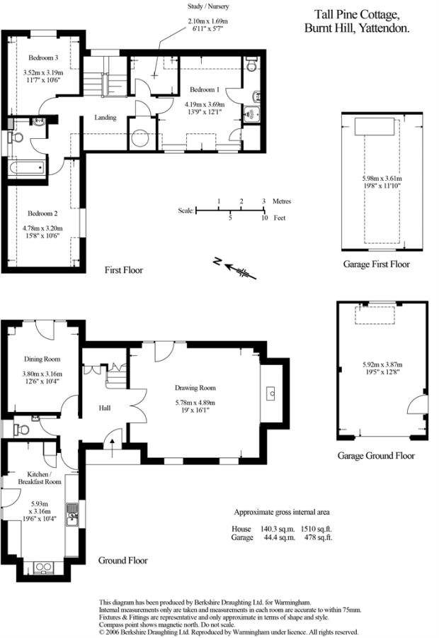 3 bedroom detached house for sale in Tall Pine Cottage, Burnt Hill ...