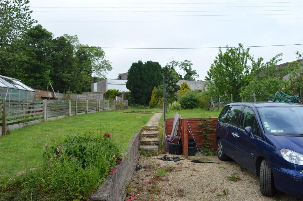 rear garden and parking
