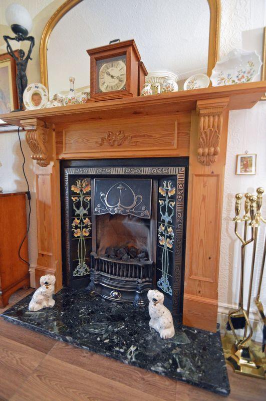 Sitting fireplace