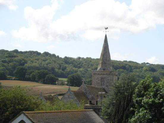 View over church spire