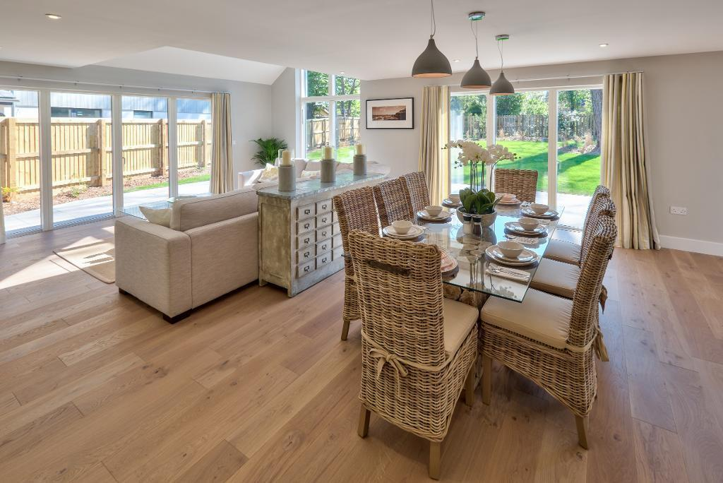 Show Home: Dining area to garden