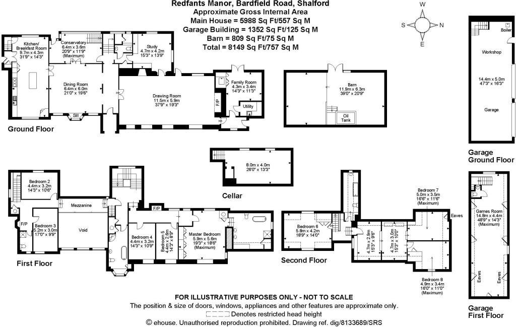 8 Bedroom Detached House For Sale In Redfants Manor