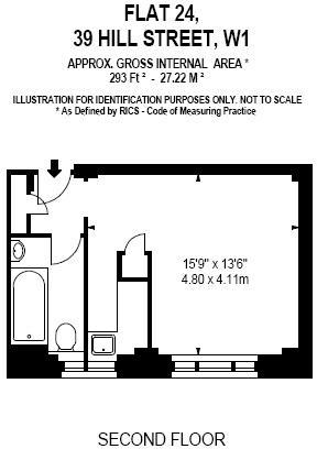 Floor Plan 293 sq ft