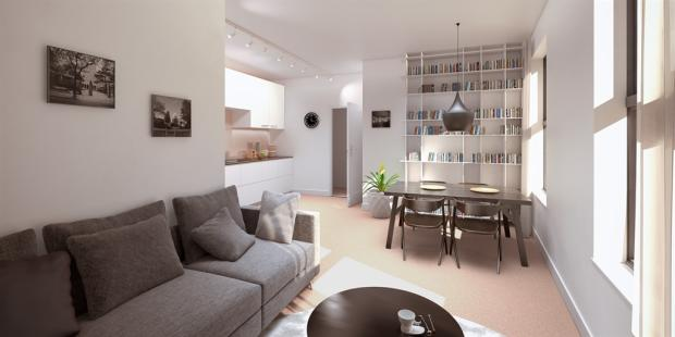 1 bedroom apartment for sale in norman house friar gate derby de1 for One bedroom apartments in norman