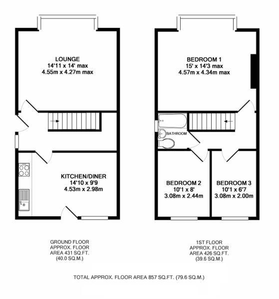 3 bedroom semi