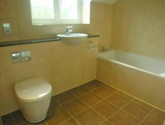 photo of stark olive bathroom ensuite ensuite bathroom