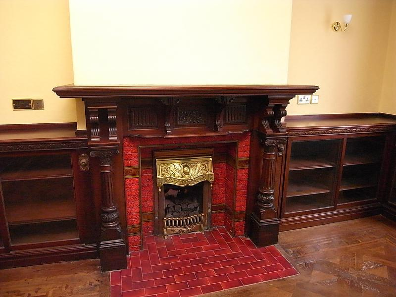 Library Fireplace