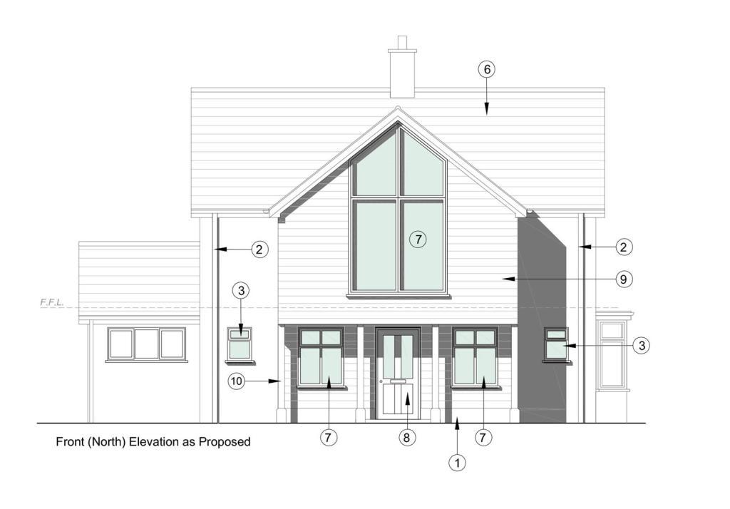 Proposed front eleva