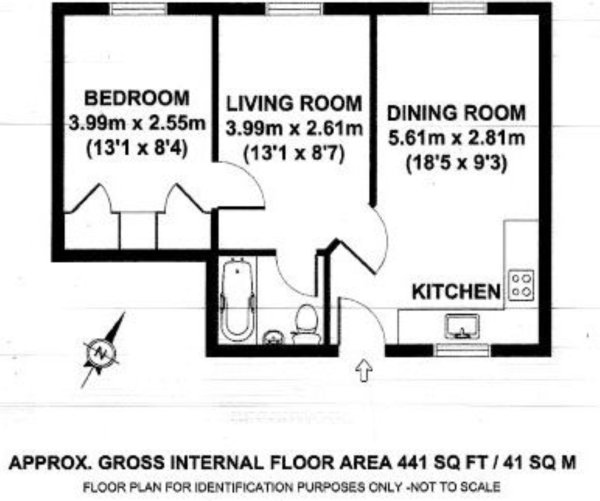 Floor plan - One Bedroom Annexe