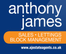 Anthony James Estate Agents, Crosby branch logo