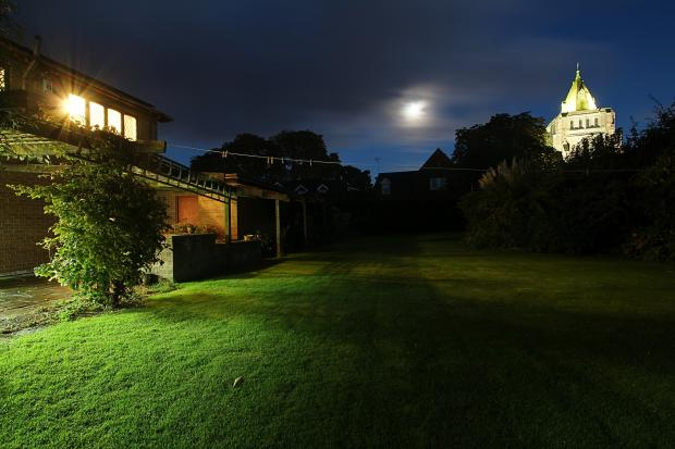 Rear Garden at Night
