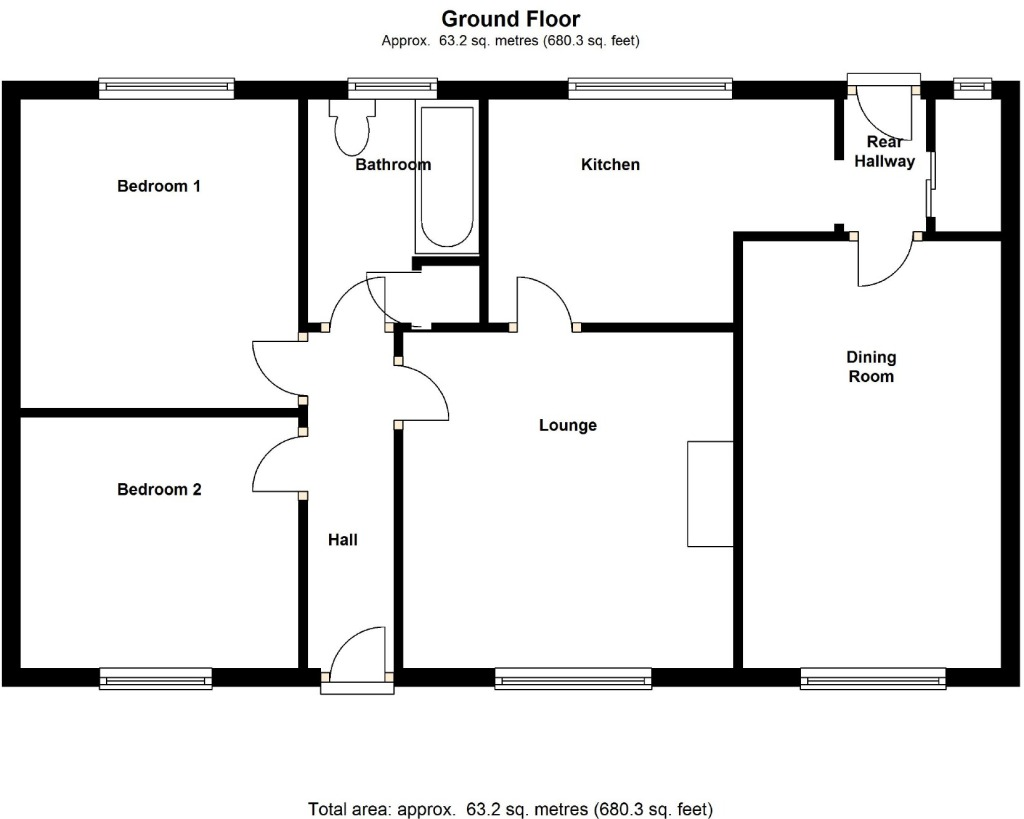 3 bedroom house plan diagram 3 get free image about for House layout plan