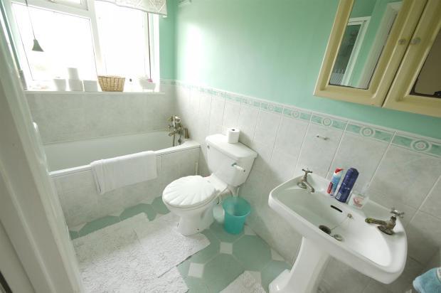Half Tiled Bathroom: