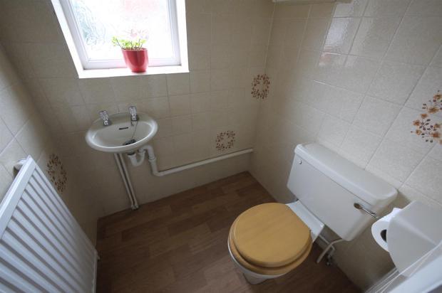 Tiled Cloakroom:-