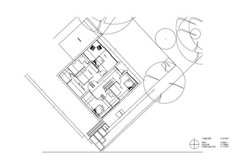 Lower groundfloor plan