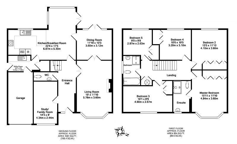 5 bedroom house for sale in hummingbird court kempshott rg22 for 5 bedroom modern farmhouse plans