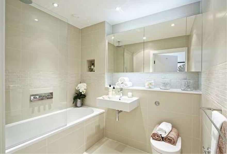 1 bedroom apartment for sale in kew bridge west brentford for Half tiled bathroom ideas