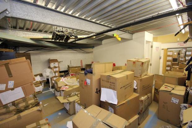 Hull KR top floor  stockroom