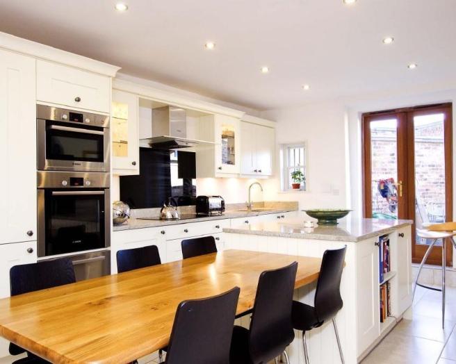 Open plan orange kitchen design ideas photos for Kitchen ideas rightmove