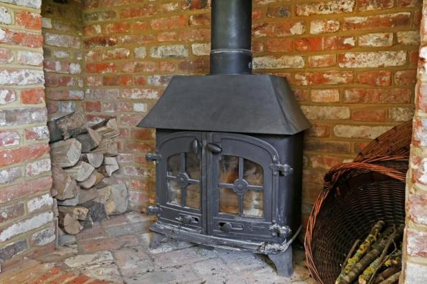 Feature woodburner