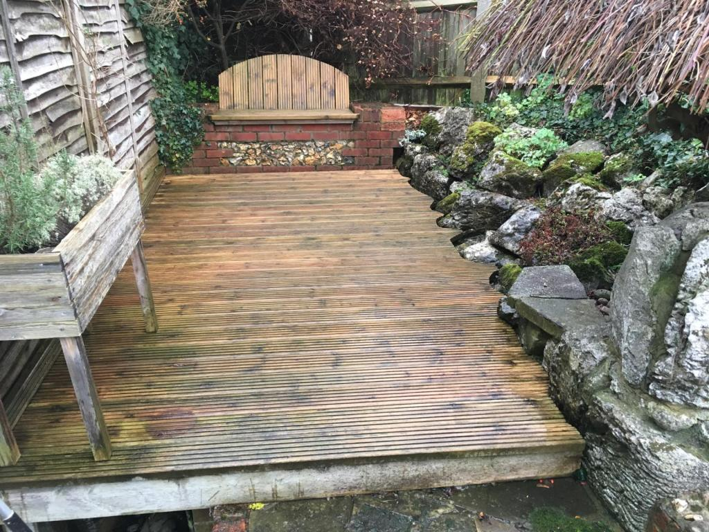 Deck and Rockery