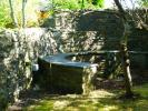 Slate and stone seat
