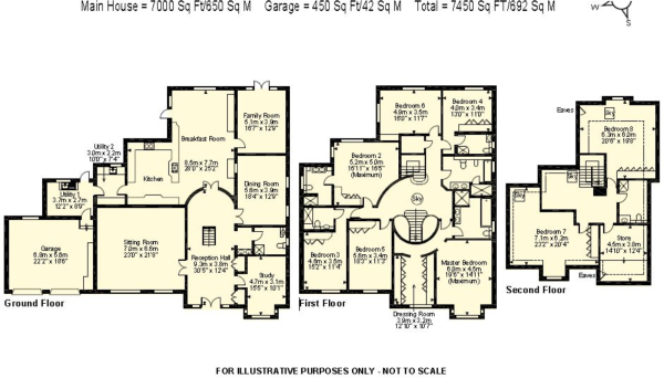 8 bedroom house plans european house plan with 7620 square for Eight bedroom house plans