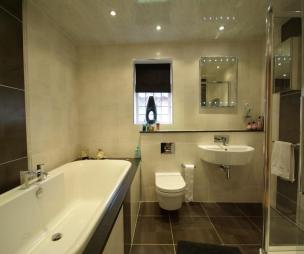 Cream and brown bathrooms for Bathroom ideas rightmove