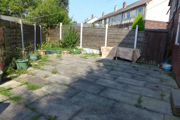 Paved Rear Garden