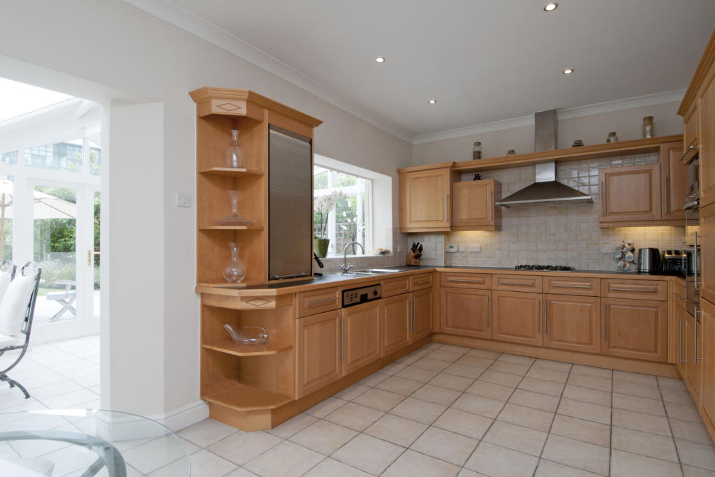 Large Kitchen with wrap around conservatory