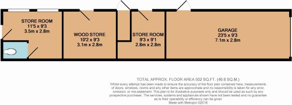Floor plan of out...