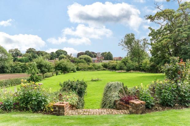 View over garden ...