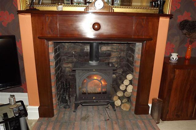 Close Up Of Fireplace