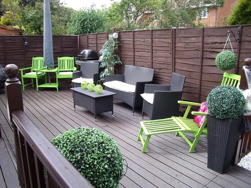 Rear decked area