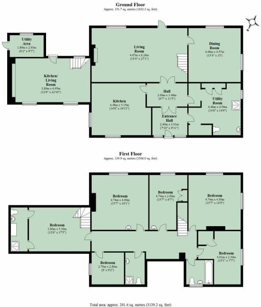 6 bedroom detached house for sale in georgian farmhouse for Georgian farmhouse plans