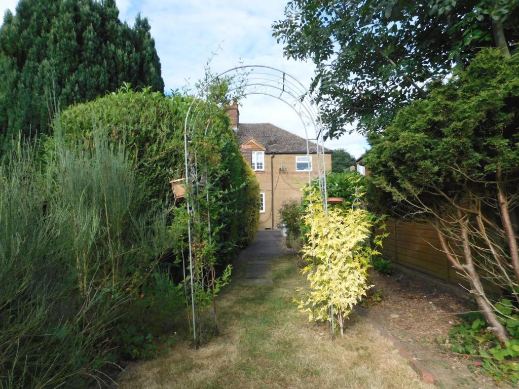 Garden onto House