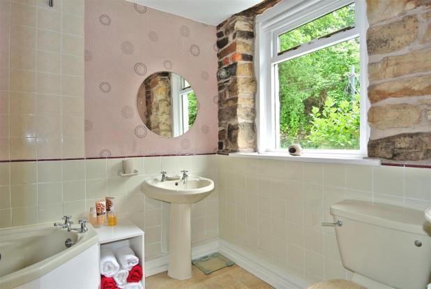 The bathroom with co