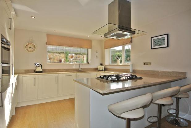 The stylish kitchen