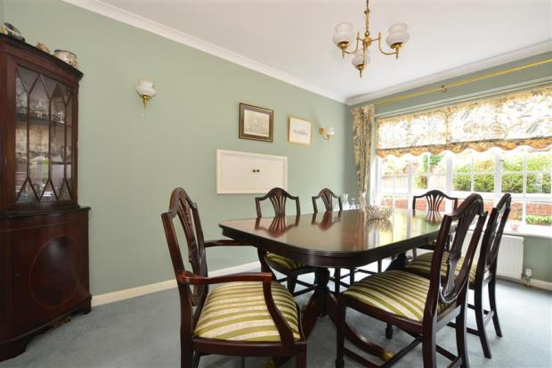 4 bedroom detached house for sale in huntersfield close for Dining room reigate